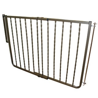 "Cardinal Gates Wrought Iron Decor Hardware Mounted Pet Gate Bronze 27"" - 42.5"" x 1.5"" x 29.5"""