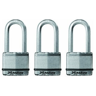 "Master Lock M5XTRILHCCSEN Magnum Keyed Padlock, Steel, 2"" W"
