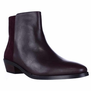 Coach Carmen Casual Ankle Boots - Warm Oxblood