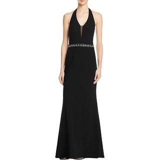 JS Collections Womens Evening Dress Textured Embellished
