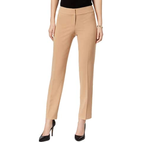 3671439761 Nine West Womens Trouser Pants Ankle Faux Pockets