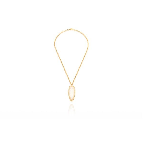 Arrowhead Necklace in Moonstone