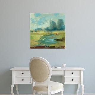 Easy Art Prints Silvia Vassileva's 'Windsor Blue Field IV' Premium Canvas Art