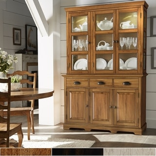 Link to Eleanor Two-Tone Wood Buffet Server and Hutch by iNSPIRE Q Classic Similar Items in Dining Room & Bar Furniture