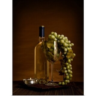 Poster Print entitled Grapes in wine glass - multi-color
