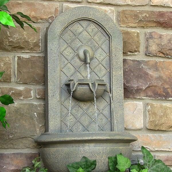 Sunnydaze Marsala Solar Wall Fountain - Color options may be available