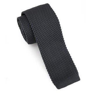 "Men's 2"" Knit Grey Tie"