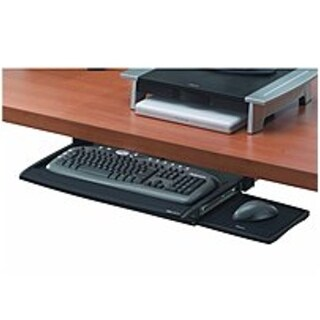 Fellowes 8031207 Deluxe Keyboard Drawer with Soft Touch Wrist (Refurbished)
