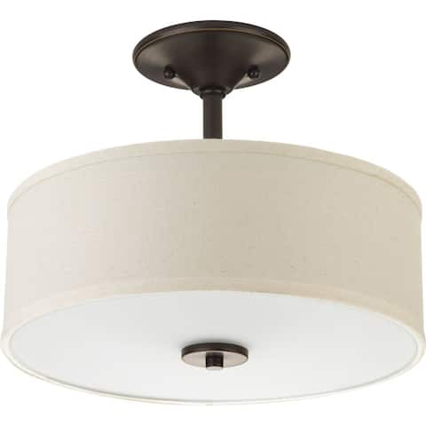 "Inspire Collection Two-Light 13"" Semi-Flush - 8.250"" x 15.250"" x 15.370"""