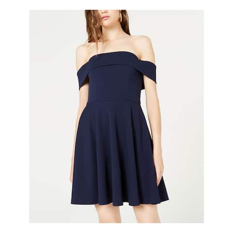 CITY STUDIO Navy Sleeveless Mini Dress 0