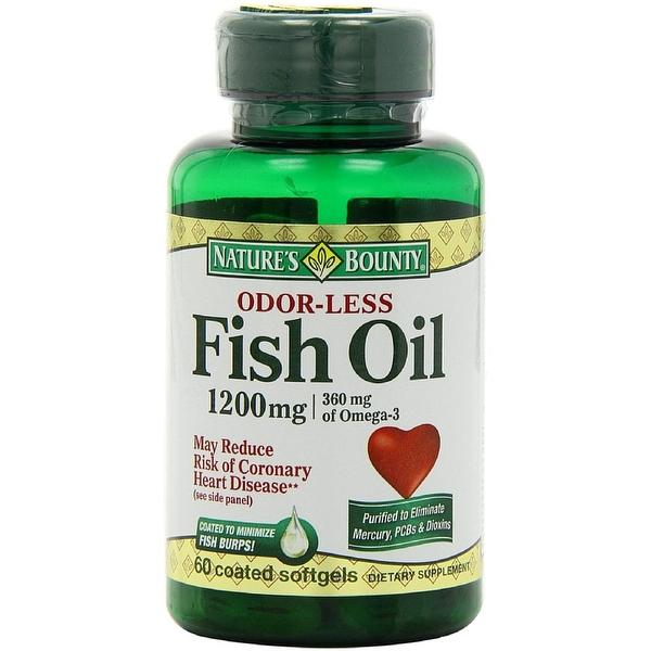 Nature's Bounty Odorless Fish Oil, 1200mg, Softgels, 60 ea