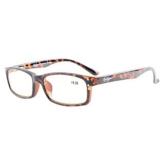 4b70c18e959 Eyekepper Spring Hinges Anti Glare and Scratch Resistant Lens Amber Tinted  Lenses Reading Glasses Tortoise +