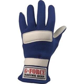 G-FORCE 4101MEDBK Racing Gloves, Black With White - Medium