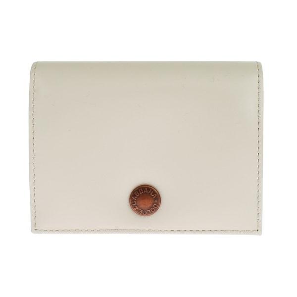 Dolce & Gabbana Dolce & Gabbana White Leather Bifold Card Wallet - One size