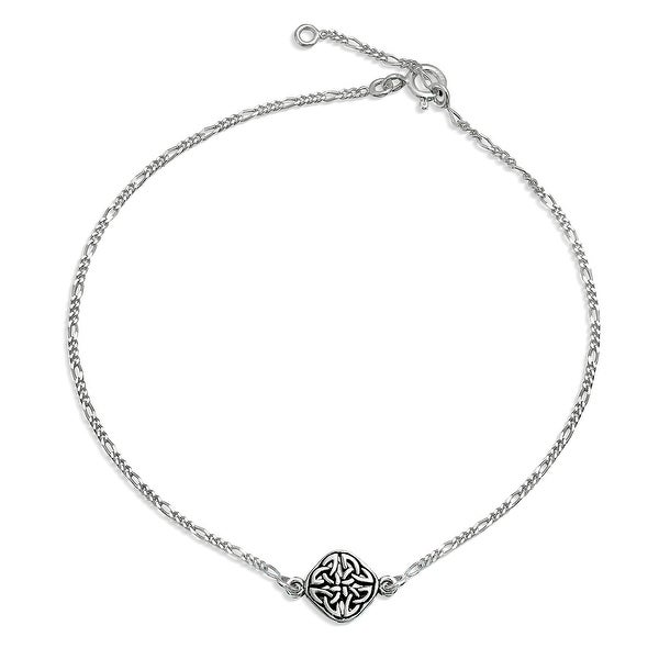 55f44a8626 Shop Celtic Love Knot Triquetra Round Shape Knotwork Anklet Ankle Bracelet  925 Sterling Silver Adjustable 9 to 10 In Extender - On Sale - Free  Shipping On ...