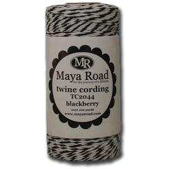Maya Road Twine Cording 100yd-Blackberry - Black