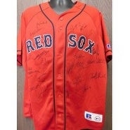 Signed Red Sox Boston 2005 replica Boston Red Sox jersey size XL by the 2005 team including Jason V