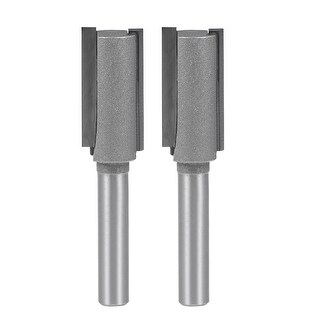 "Router Bit 1/4 Shank 1/2"" Cutting Dia 2 Straight Flutes Carbide Cutter Tool 2pcs"