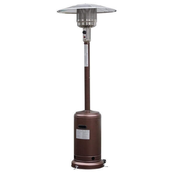 Garden Propane Standing LP Gas Steel Accessories Heater-Bronze