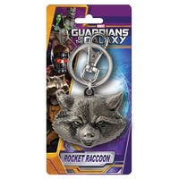 "Marvel Guardians Of The Galaxy Pewter Key Ring: ""Rocket Raccoon (Head)"" - Multi"