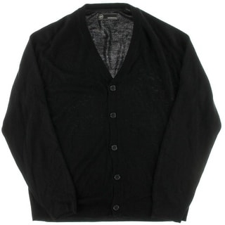 Weatherproof Mens Button-Down Soft Touch Cardigan Sweater