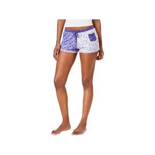 Layla Womens Pajama Shorts Printed Colorblock