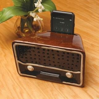 Passive Acoustic Ceramic Smartphone Speaker - Looks Like Old-Time Radio