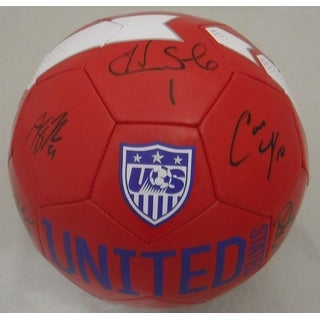 USA Womens Soccer Autographed Nike Soccer Ball Lloyd Solo 7 JSA