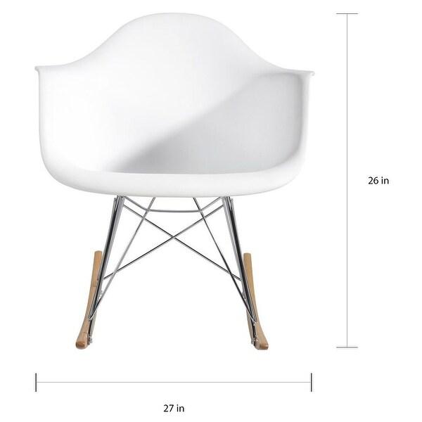 Modern Molded Plastic Chair with Steel Eiffel Legs