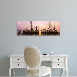 Easy Art Prints Panoramic Image 'Fishing boats at dock, Amelia Island, Fernandina Beach, Florida' Canvas Art