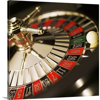 """""""Close-up of roulette wheel"""" Canvas Wall Art"""