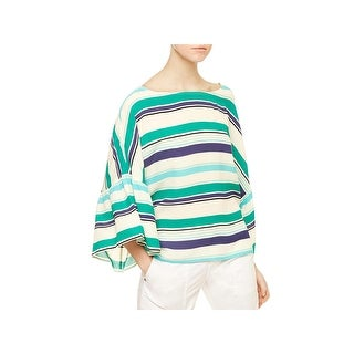 Sanctuary Womens Casual Top Striped Raglan