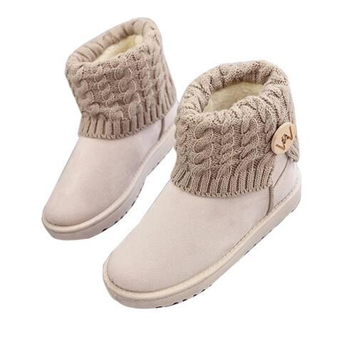 Women's Winter Snow Boots Mid Calf Boots Women Plush Shoes