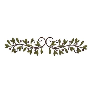 Metal Olive Branch Over The Door Wall Decor 47 Inch Wide Topper