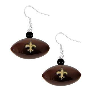 New Orleans Saints Mini Football Dangle Earring