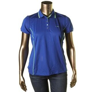 L-RL Lauren Active Womens Short Sleeves Contrast Trim Shirts & Tops - XL