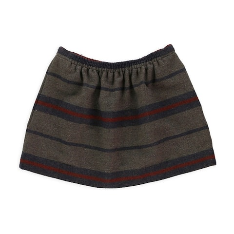 Rachel Roy Womens New Stripe Pocket Mini Skirt, Brown, Medium