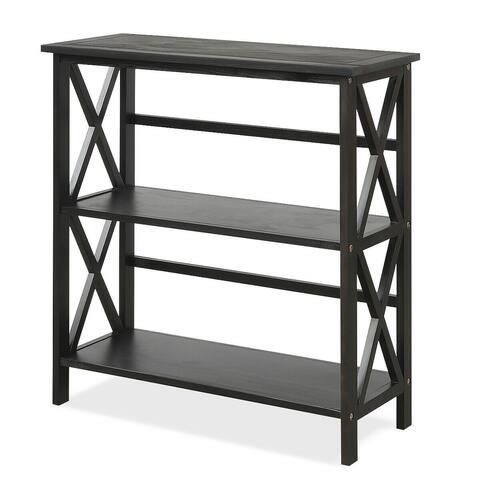 3-Tier Wooden Open Shelf Bookcase