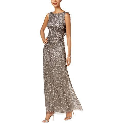 1216ac0fb0e Adrianna Papell Womens Evening Dress Sequined Formal