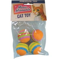 Westminster Pet 4Pk Rainbw Balls Cat Toy