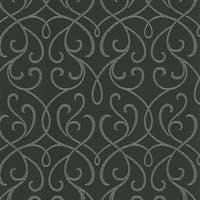 Brewster DL30448 Alouette Charcoal Mod Swirl Wallpaper