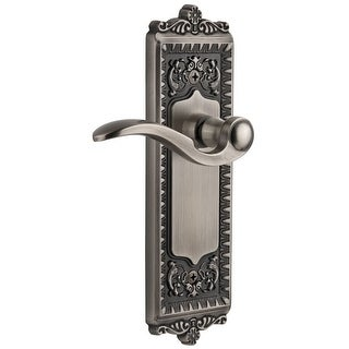 Grandeur WINBEL_DD_NA  Windsor Solid Brass Rose Dummy Door Lever Set with Bellagio Lever