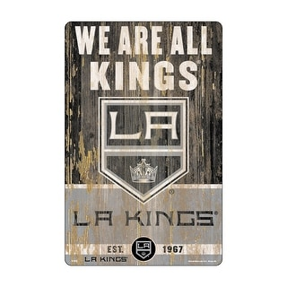 Los Angeles Kings Sign 11x17 Wood Slogan Design