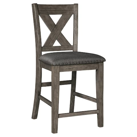 Ashley D388-124 Gray Wash Finish Counter Height Barstool (6-Pack)