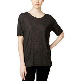 Kensie Womens Juniors Casual Top Short Sleeves Crew-Neck