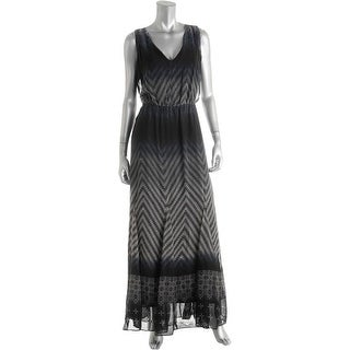 Jessica Simpson Womens Nyla Cut-Out Printed Maxi Dress - M