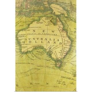"""Map of Australia"" Poster Print"