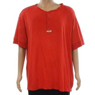 Polo Ralph Lauren Red Mens Size 3XLT Henley Short-Sleeve Shirt