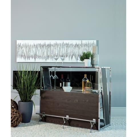 Carbon Loft Olympe Dark Oak 2-shelf Bar Unit