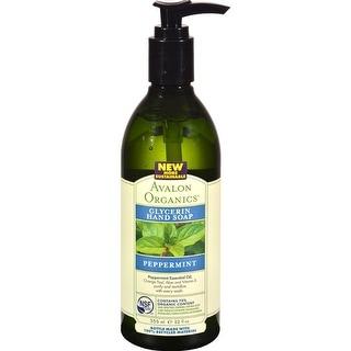 Avalon Organics - Glycerin Liquid Hand Soap - Peppermint ( 3 - 12 FZ)